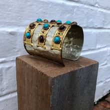 Tigers Eye and Turquoise Stone Cuff