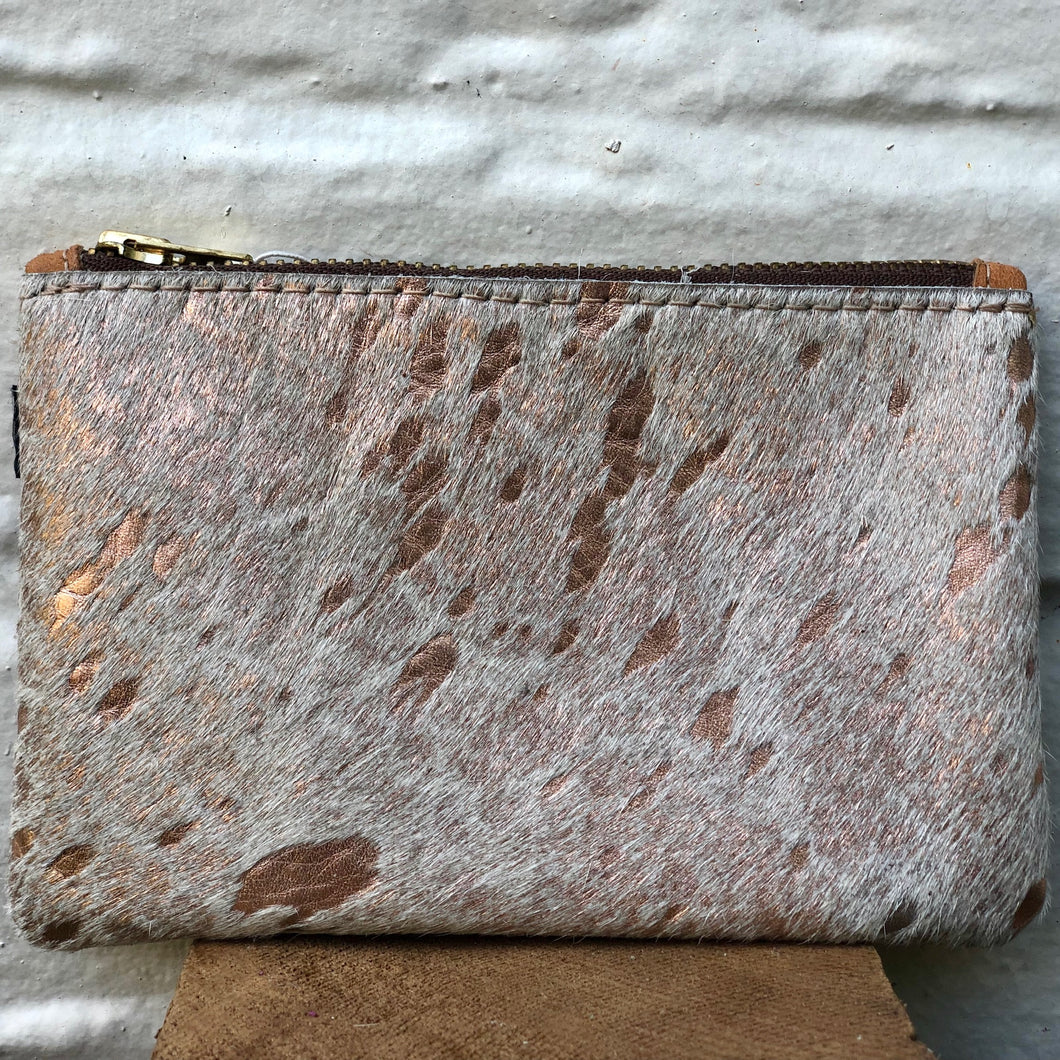Rose Gold Cowhide Coin Purse