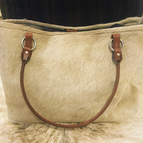 Tan Cowhide Bag