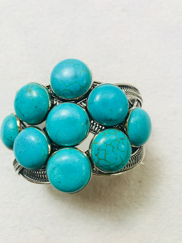 Braided Turquoise Cuff