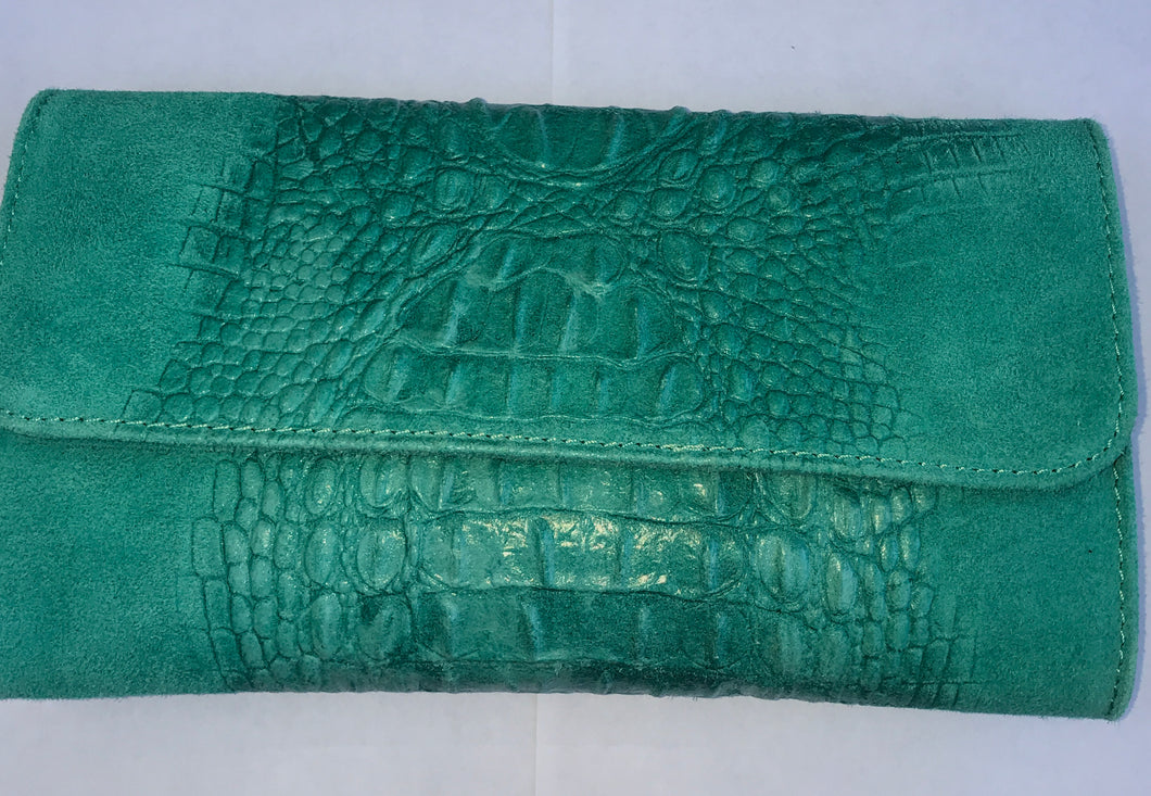 Turquoise Cowboy Clutch