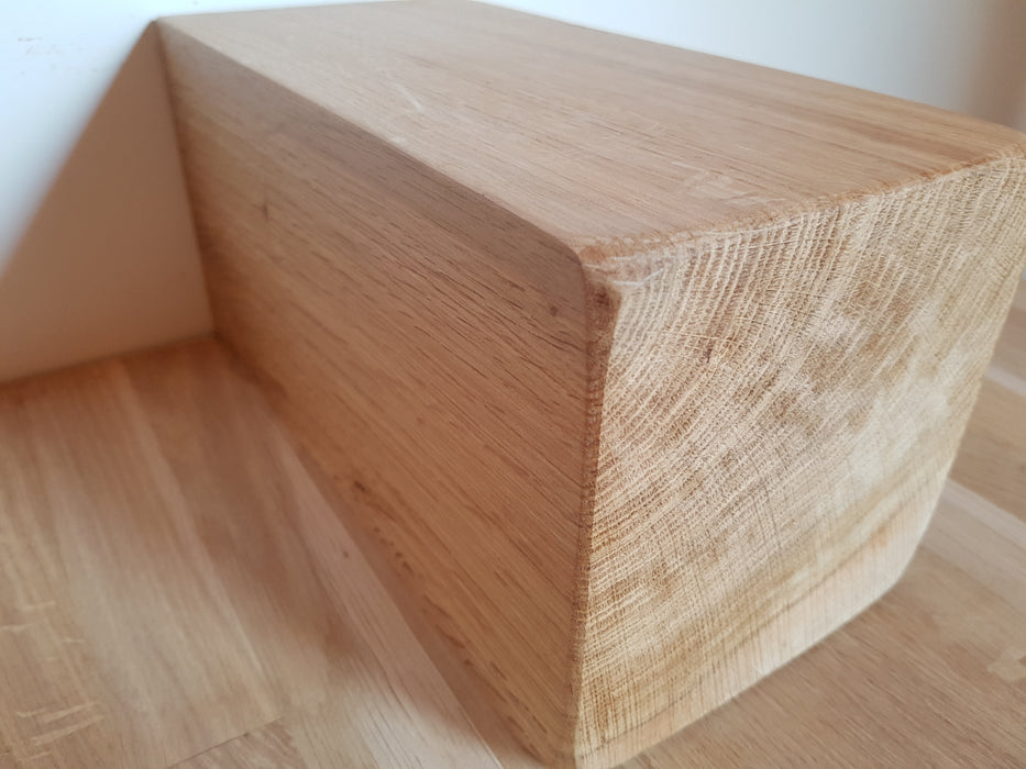 Representation of the clear beeswax solid oak fireplace beam with chunky corbels by new forest rustic furniture