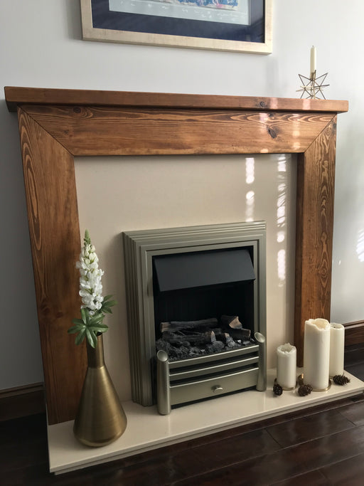 Rustic Marchwood Fireplace Surround