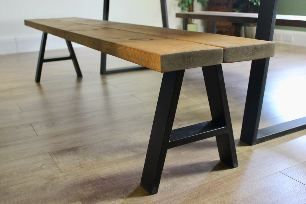 Industrial Rustic Dining Bench Table
