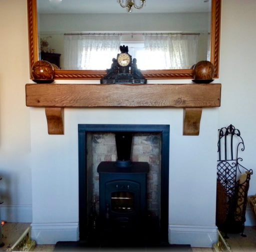 rustic solid oak fireplace beam by new forest rustic furniture