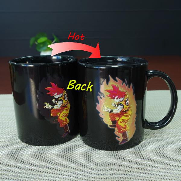Goku SSj God Heat Reactive Coffee Mugs