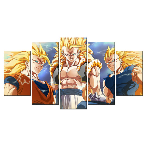 Wall Decor Canvas Painting Dragon Ball Z Picture Canvas Home Decoration For Living Room Modern Painting 5 Piece Art Prints Set