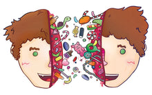 Exploding Candy Head Stickers