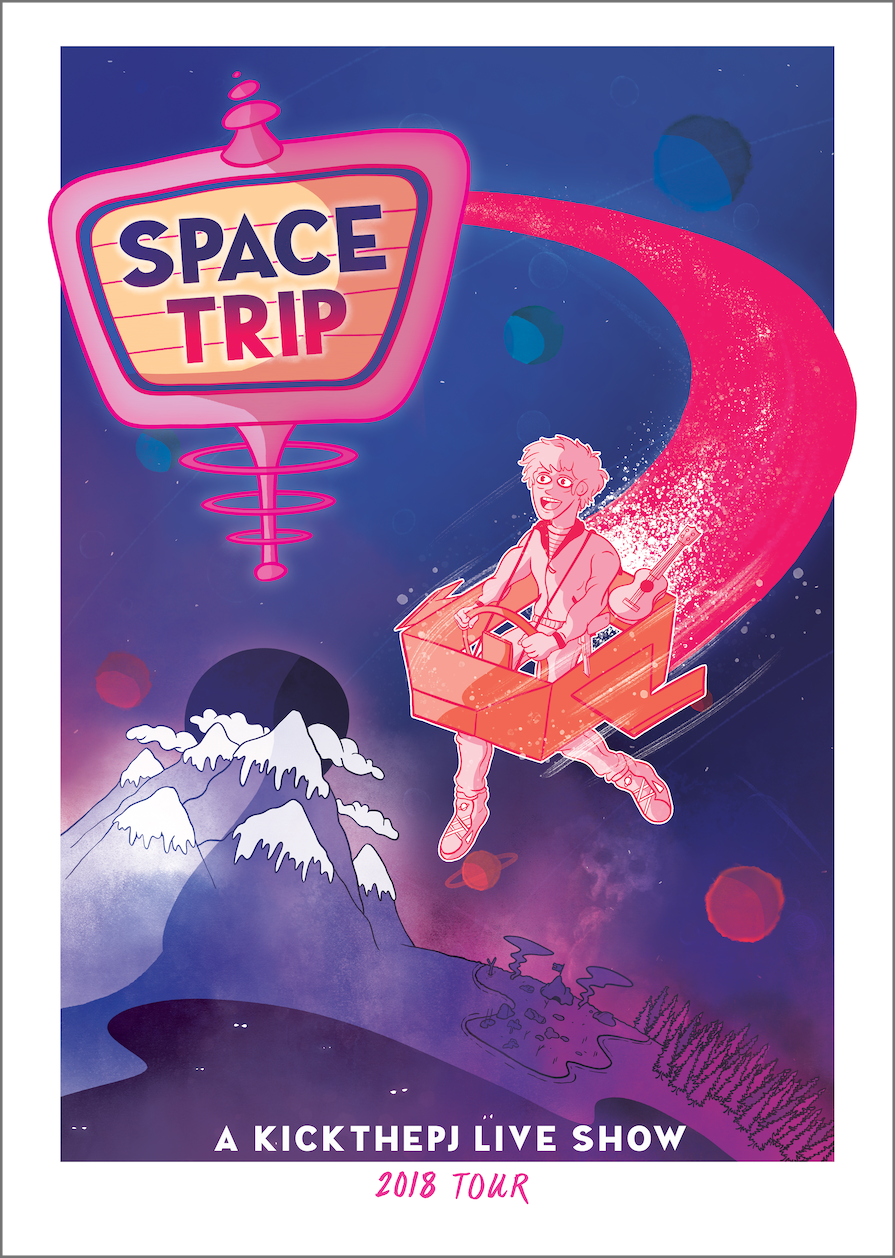 Space Trip Poster
