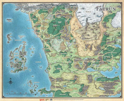 Sword Coast Faerun Map