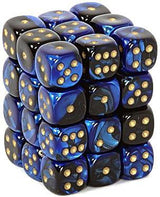 Chessex : 12mm d6 Black-Blue/Gold