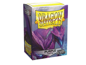 Dragon Shield Card Sleeves :  Purple - Non-glare Matte (100)