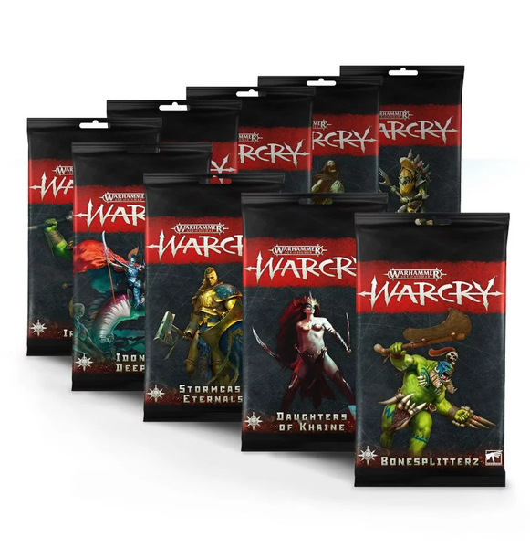 Warcry faction rules cards ( 9 variants )