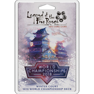 Legend of the Five Rings - LCG : Winter Court 2018 World Championship deck