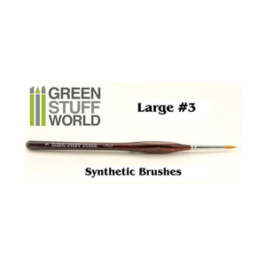 Large #3 synthetic brush