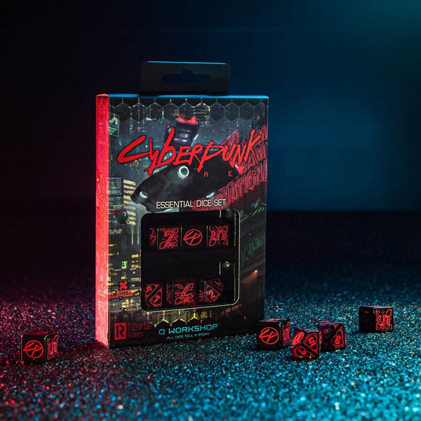Cyberpunk essential dice set