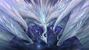 gamermats - White Crystal Dragon