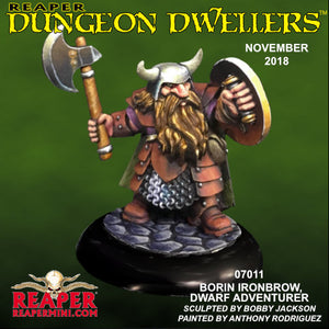 Reaper Dungeon Dwellers - Borin Ironbrow, Dwarf Fighter