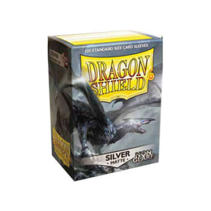 Dragon Shield Card Sleeves :  Silver - Non-glare Matte (100)