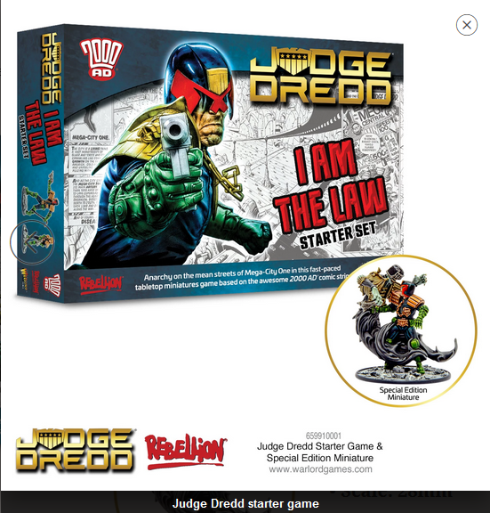 Judge Dredd starter game