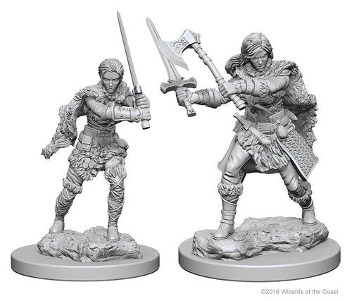 Dungeons & Dragons Nolzur`s Marvelous Unpainted Miniatures: W1 Human Female Barbarian