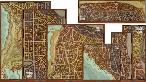 Waterdeep: City Wards Map (pre order)