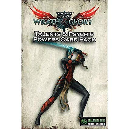 Wrath & Glory RPG - character talents and psychic powers card pack