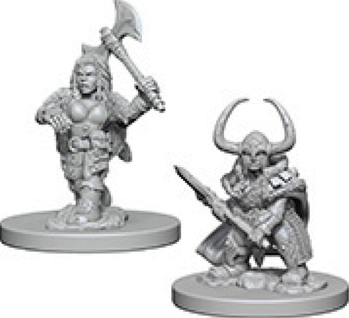 Dungeons & Dragons Nolzur`s Marvelous Unpainted Miniatures: W4 Dwarf Female Barbarian