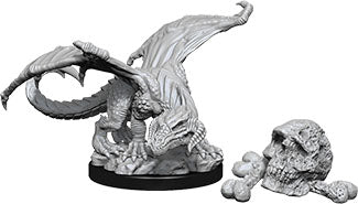 Dungeons & Dragons Nolzur`s Marvelous Unpainted Miniatures: W10 Black Dragon Wyrmling