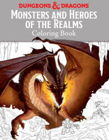 Dungeons & Dragons - Monsters and Heroes of the Realms coloring book