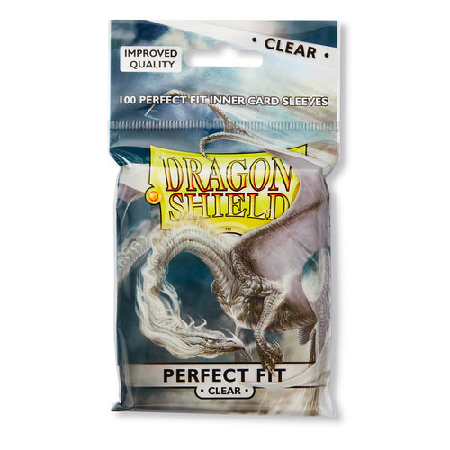 Dragon Shield Perfect Fit Card Sleeves : Clear, top loaders (100)