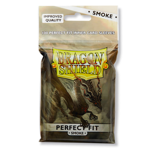 Dragon Shield Perfect Fit Card Sleeves : Smoke, top loaders (100)