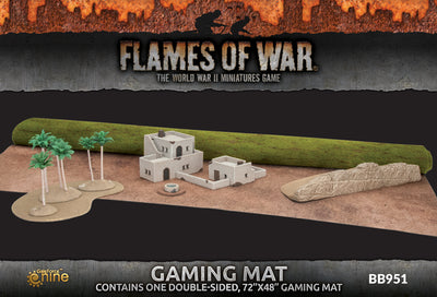 "Battlefield in a Box: Desert/Green Double Sided Gaming Mat (48"" x 72"")"