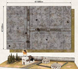 "Battlefield in a Box: Brown/City Double Sided Gaming Mat (48"" x 72"")"