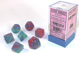 Chessex : Lab Dice - Polyhedral 7-die set Gemini Gel Green-Pink/blue