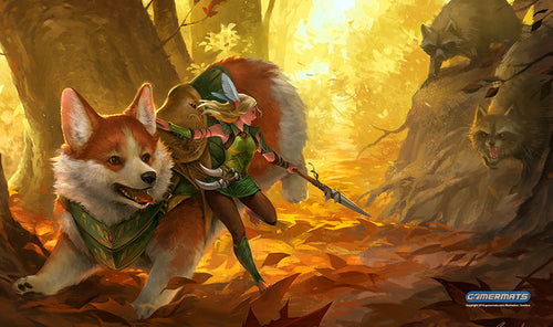 gamermats corgi and elf