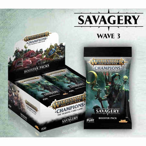 Warhammer Champions CCG Savagery- booster box