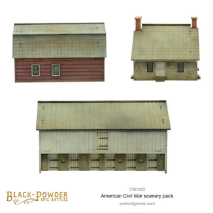 Epic Battles : ACW barn & houses scenery pack (pre-order)