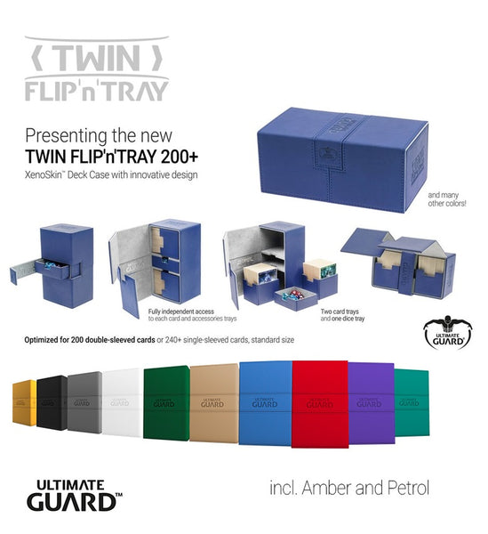 Ultimate Guard : Twin Flip 'n' Tray 200+ (12 color opitions)