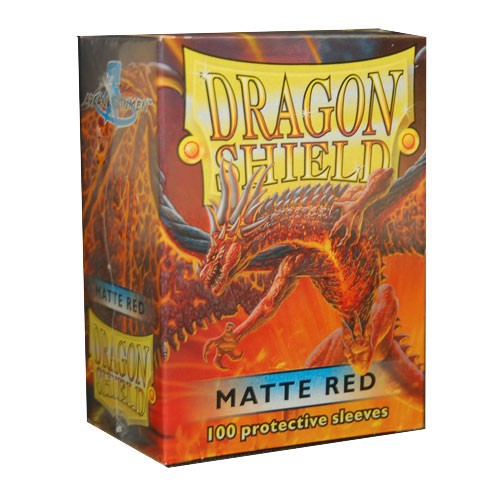 Dragon Shield Card Sleeves : Red - matte (100)