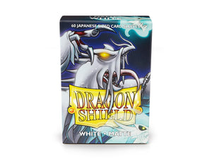 Dragon Shields : White - matte (60 count Japanese size)