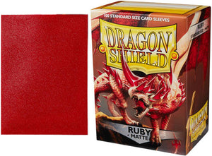 Dragon Shield Card Sleeves : Ruby - Matte (100)