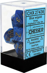 Chessex : Polyhedral 7-die set Blue / Gold
