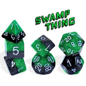 Halfsies Dice : Swamp Thing - 7 dice set