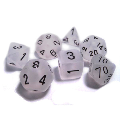 Chessex : Polyhedral set Clear w/black Frosted
