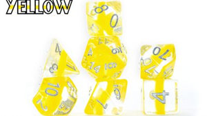 Neutron : Yellow - 7 dice set