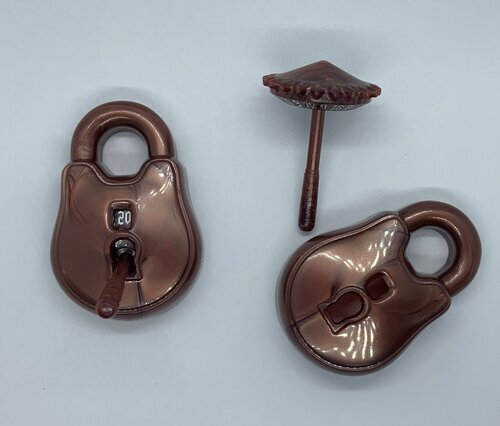 The Rogue d20 Lock & Pick - Stout Bronze & Ward White