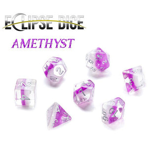 Eclipse Dice Polyhedral Set: Amethyst (7)