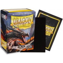 Dragon Shield Card Sleeves :  Black- Non-glare Matte (100)