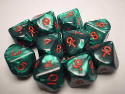 Chessex : Set of 10 Ankh D10s